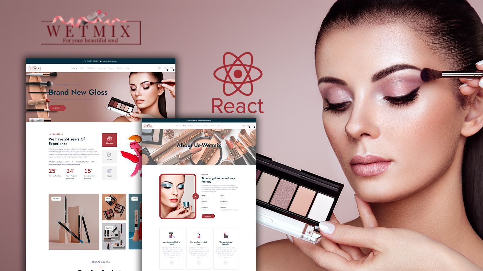 Wetmix - Beauty and Cosmectic Shop React Template