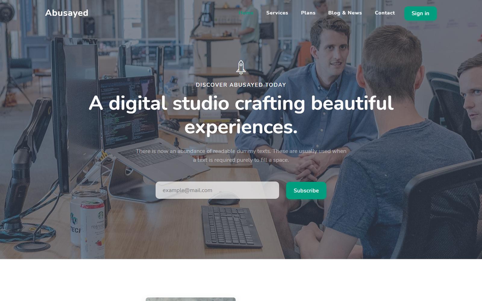 Shuvo | A Responsive Creative Landing Page Template