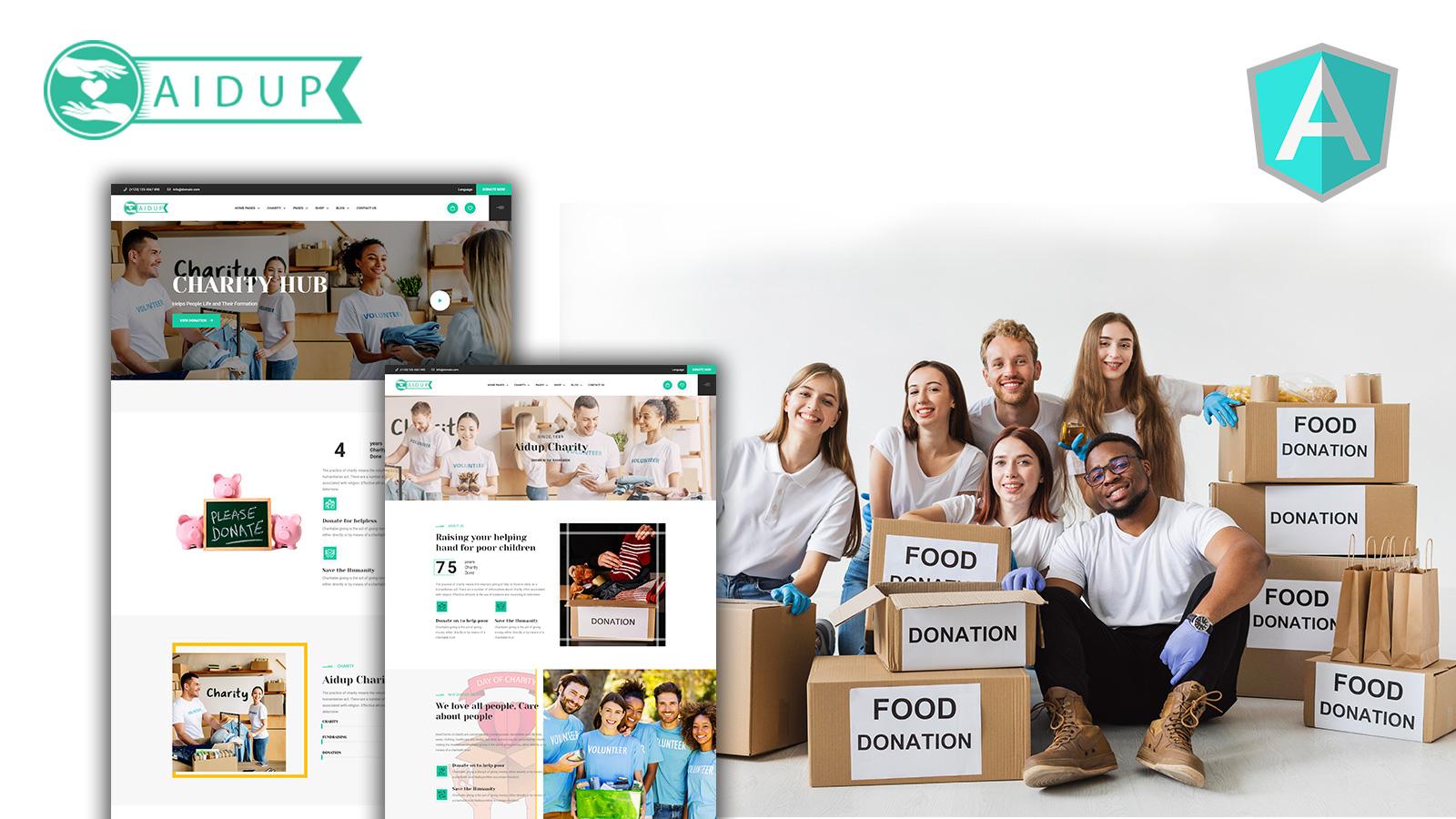 Aidup - Charity Angular Website Template