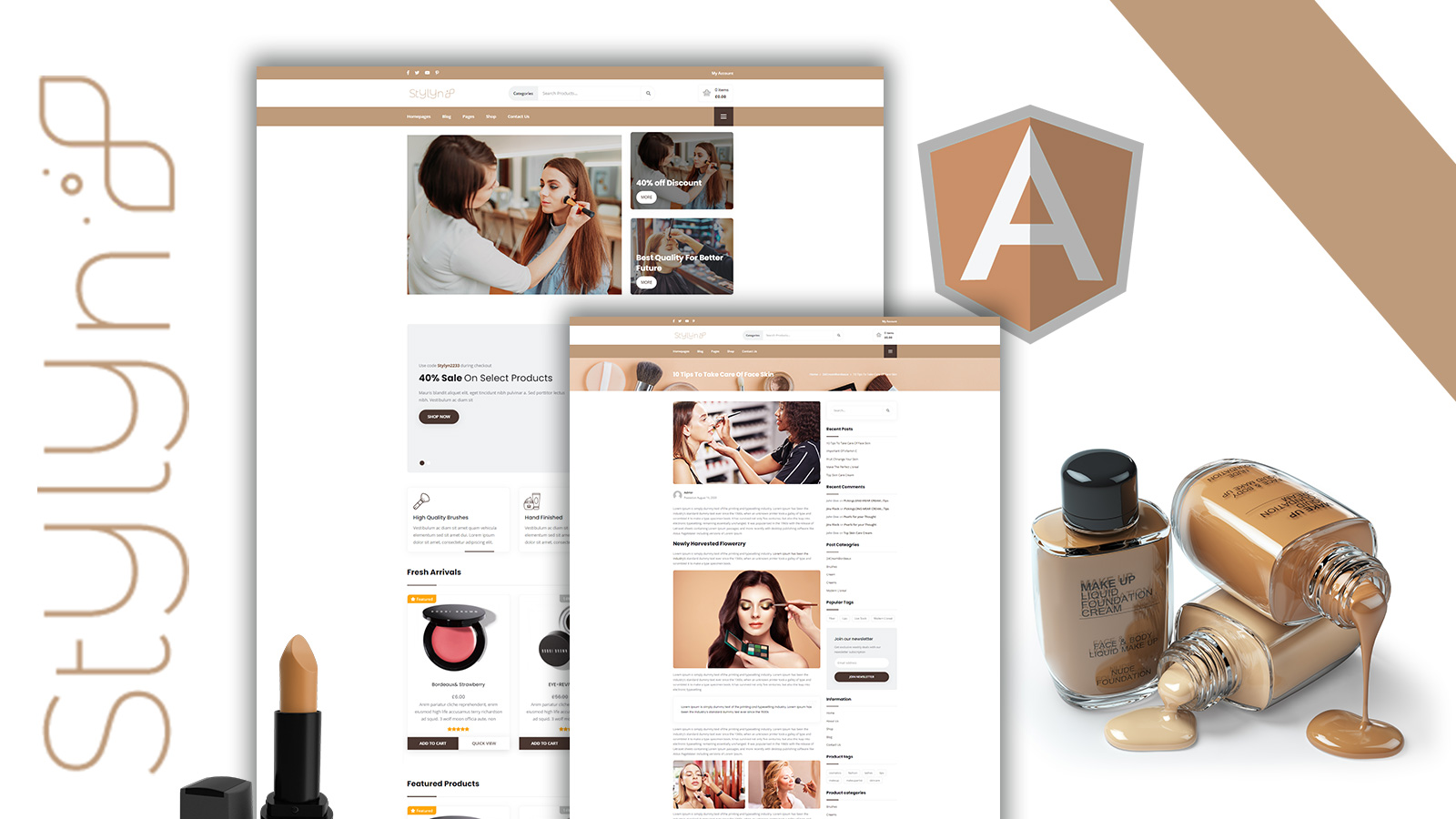 Stylyn - Cosmetic and Beauty Shop Angular Template
