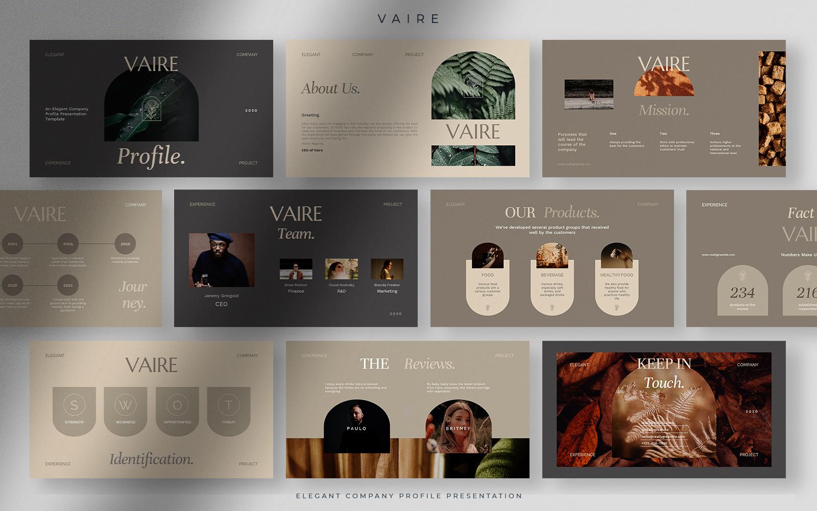 Vaire - Elegant Company Profile Presentation