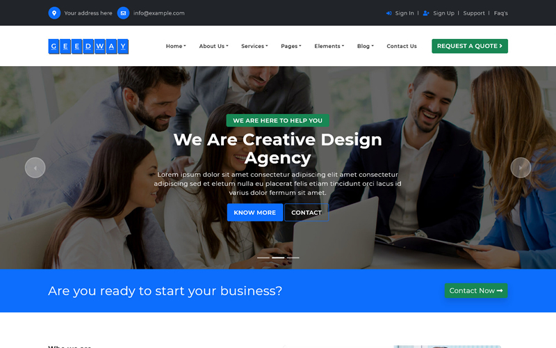 Geedway - Multipurpose Bootstrap 5 HTML Template