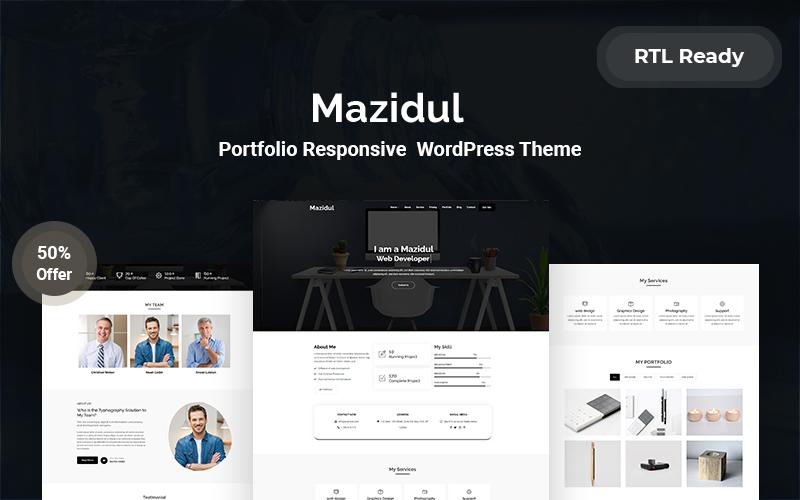 Mazidul Portfolio Responsive  WordPress Theme