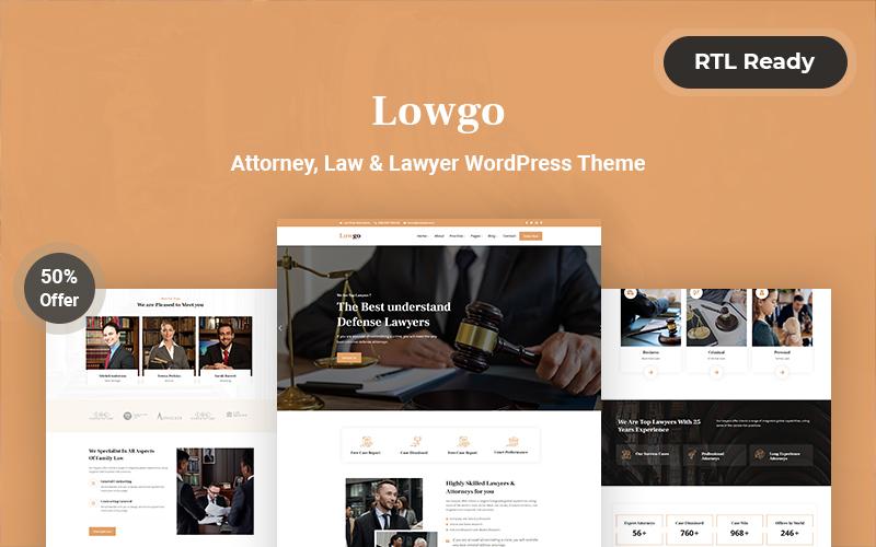 Lowgo Attorney, Law & Lawyer WordPress Theme