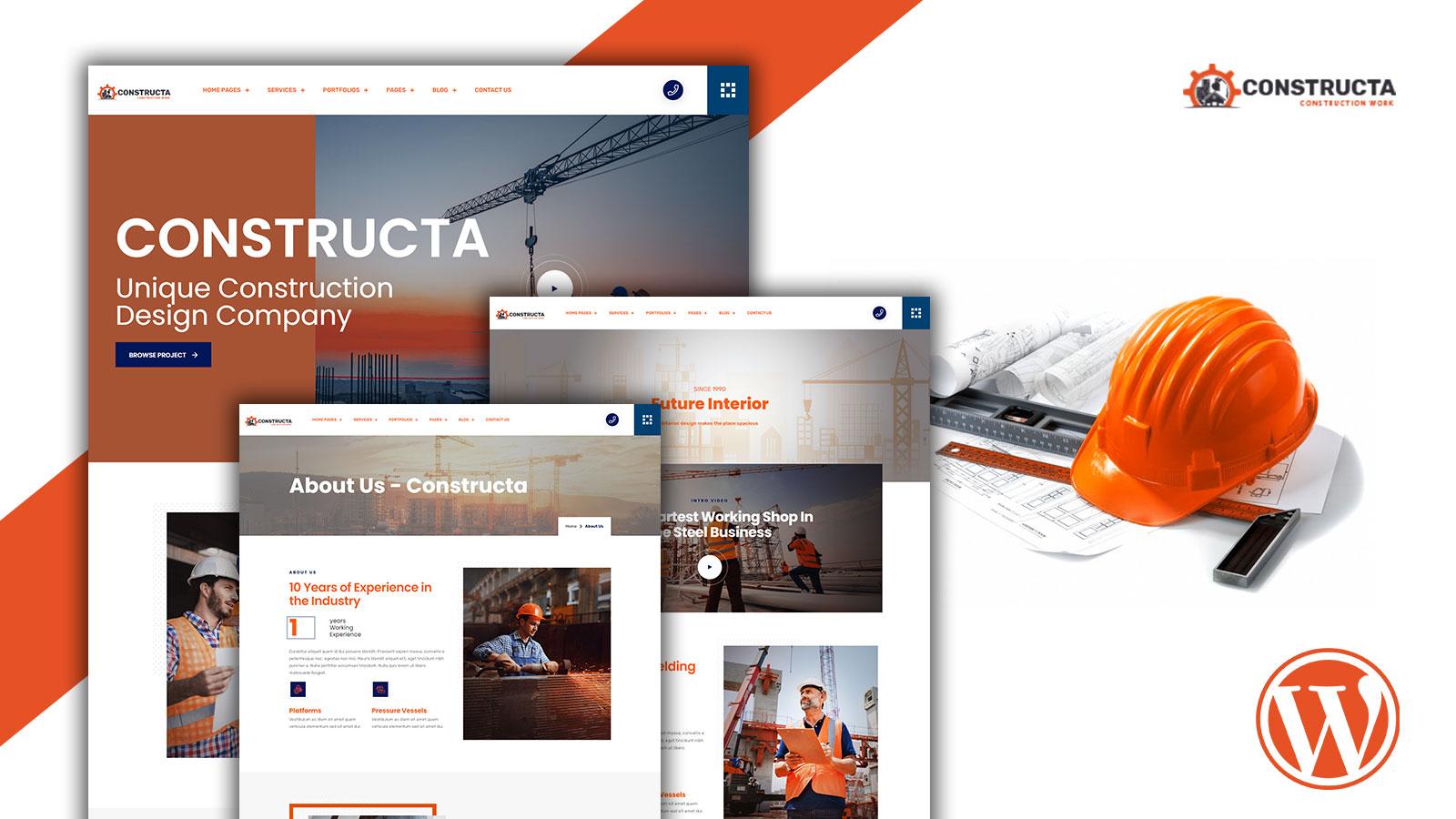 Constructa - Construction Service WordPress Theme