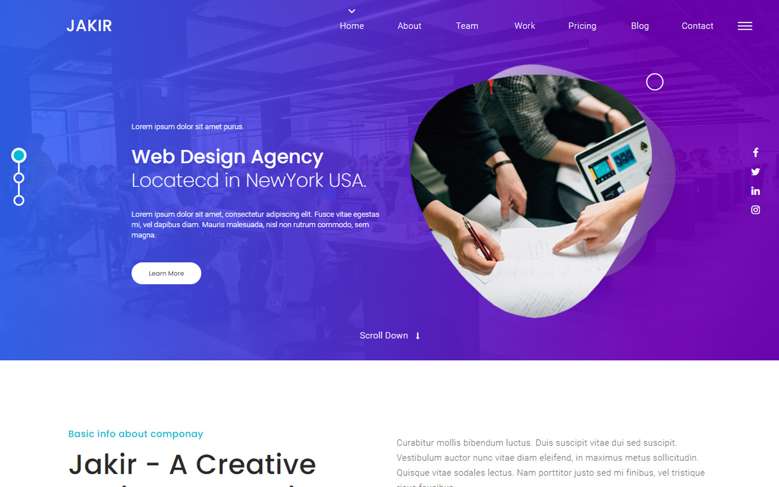 Jakir - A Creative Design Agency Landing Page Template