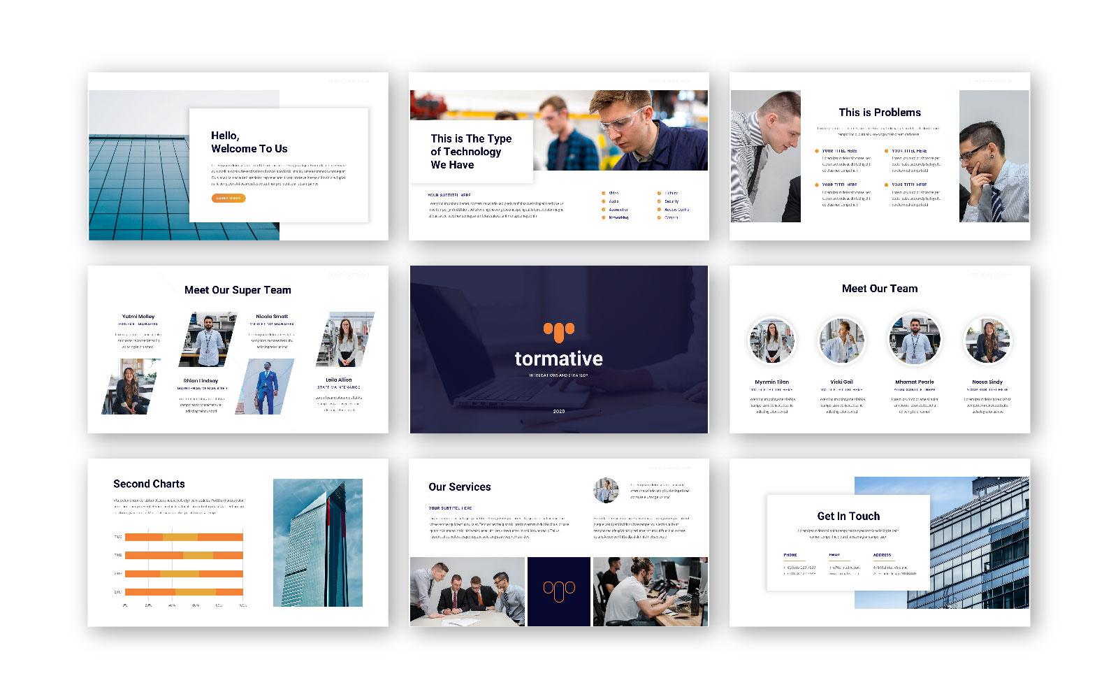 Tormative – Creative Business PowerPoint Template