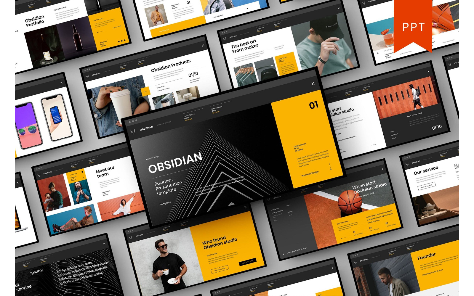 Obsidian – Business PowerPoint Template