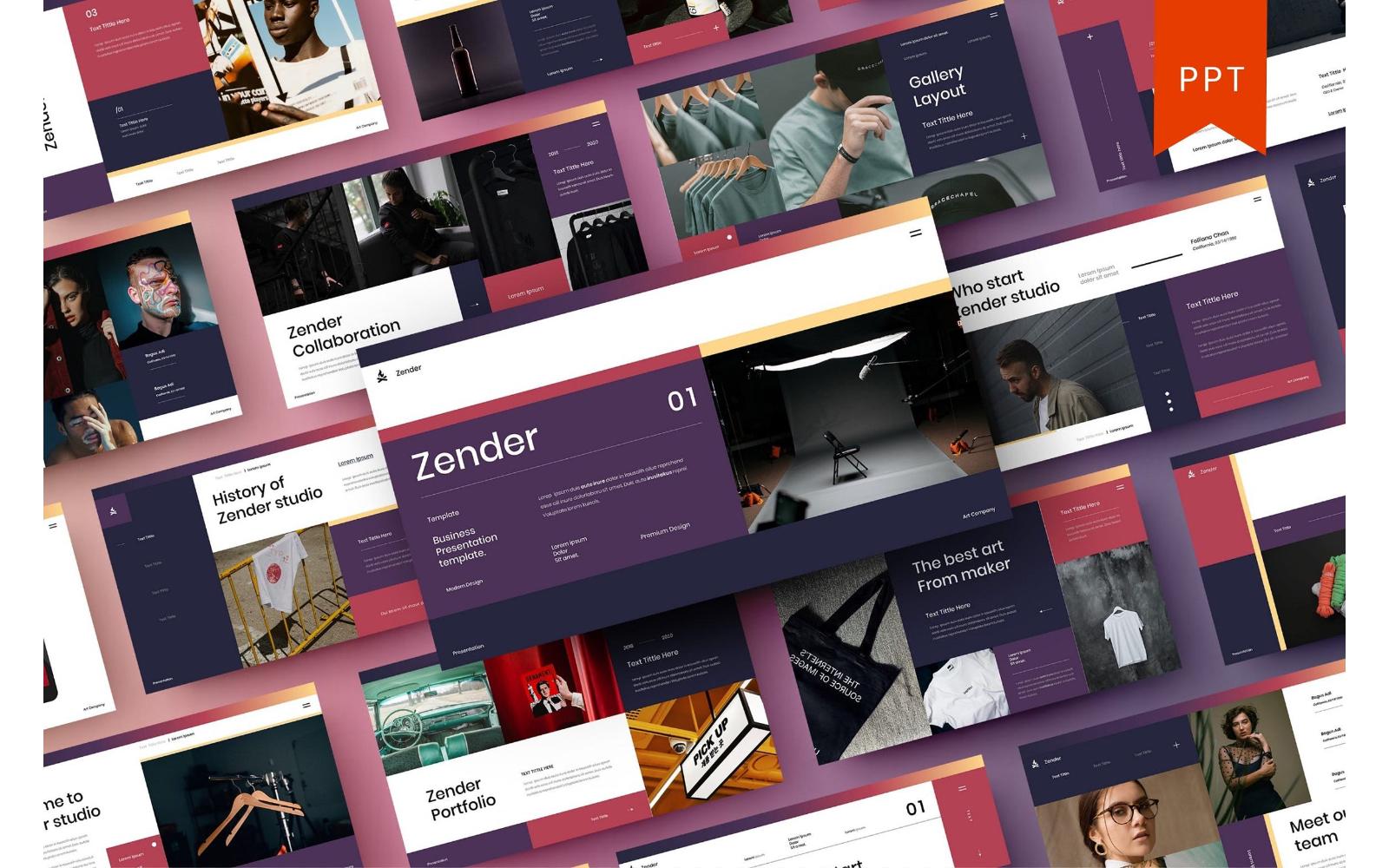 Zender – Business PowerPoint Template