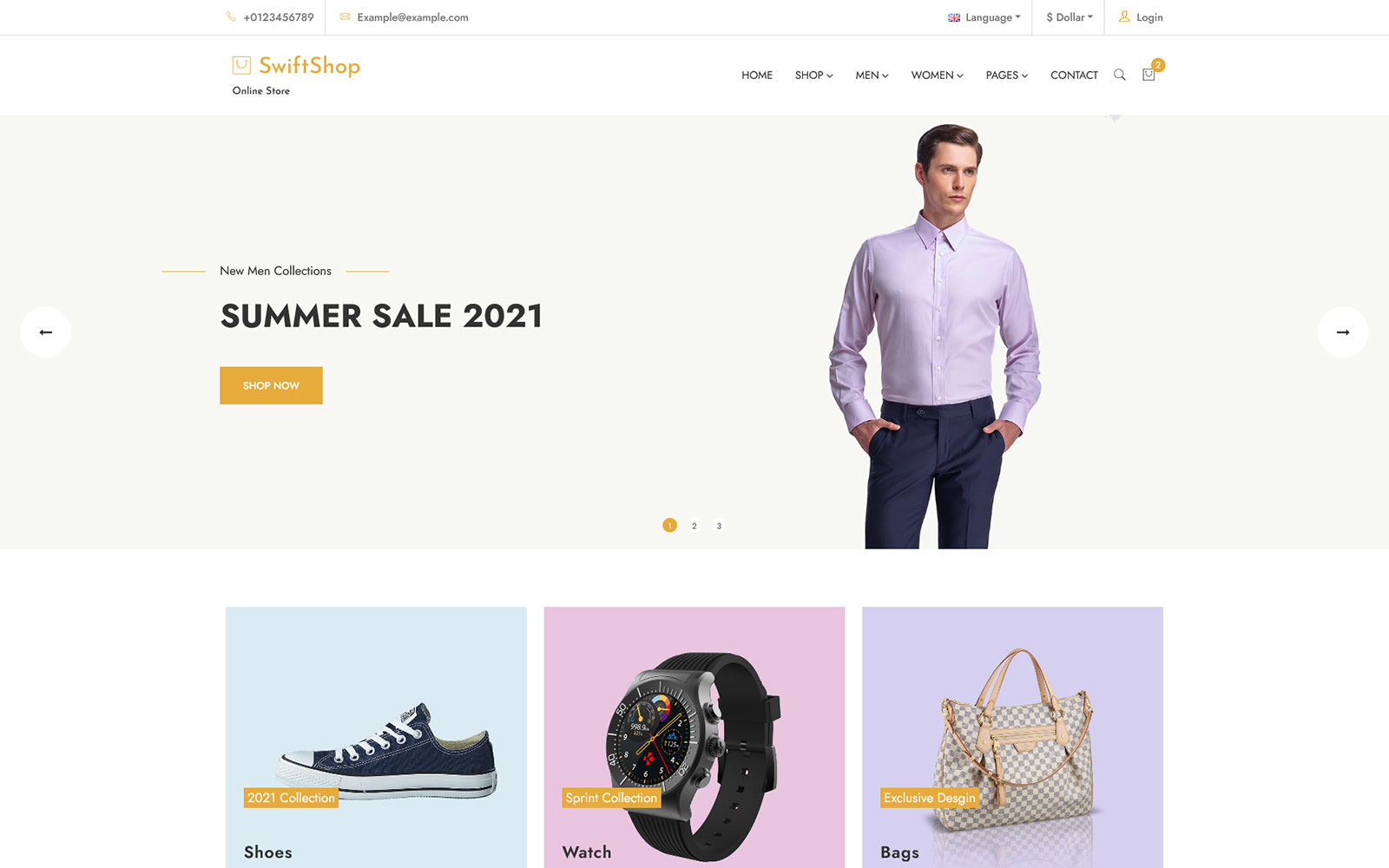 SwiftShop - eCommerce Bootstrap HTML Template