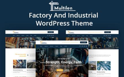 Tema para wordpress - Categoría: Industrial - versión para Desktop