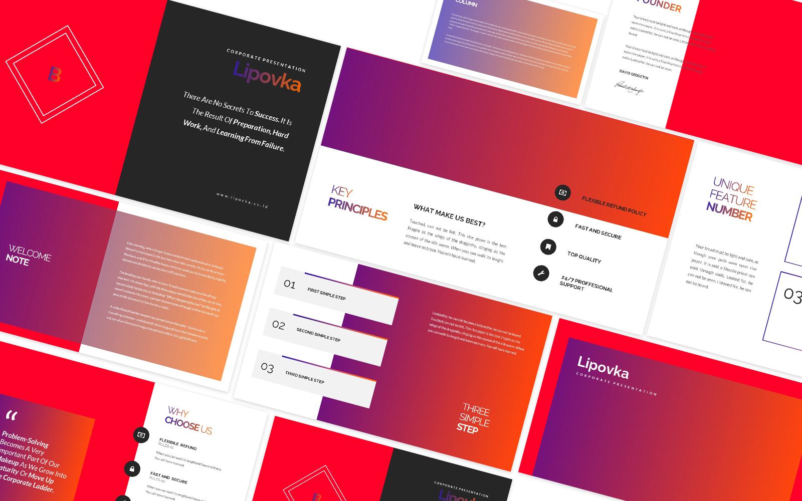 Lipovka Creative Agency Powerpoint Template