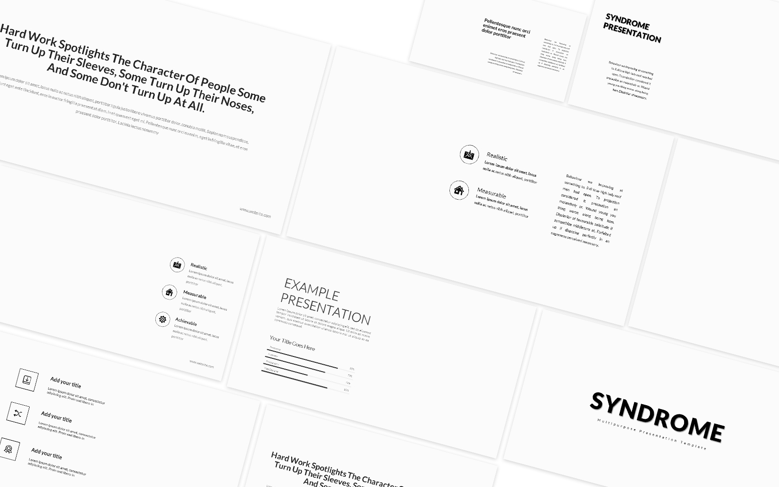 Syndrome Finance Powerpoint Template