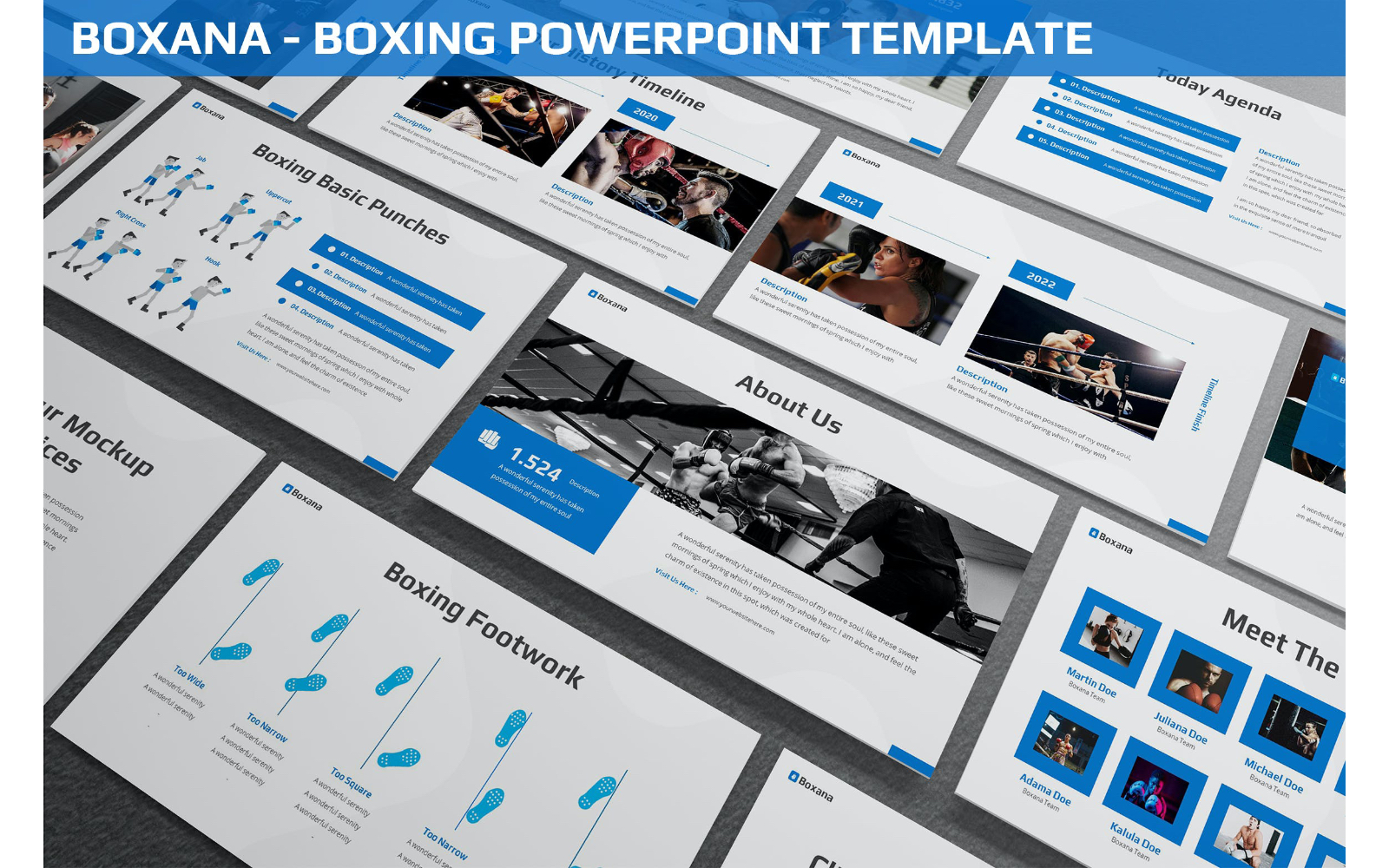 Boxana - Boxing Powerpoint Template