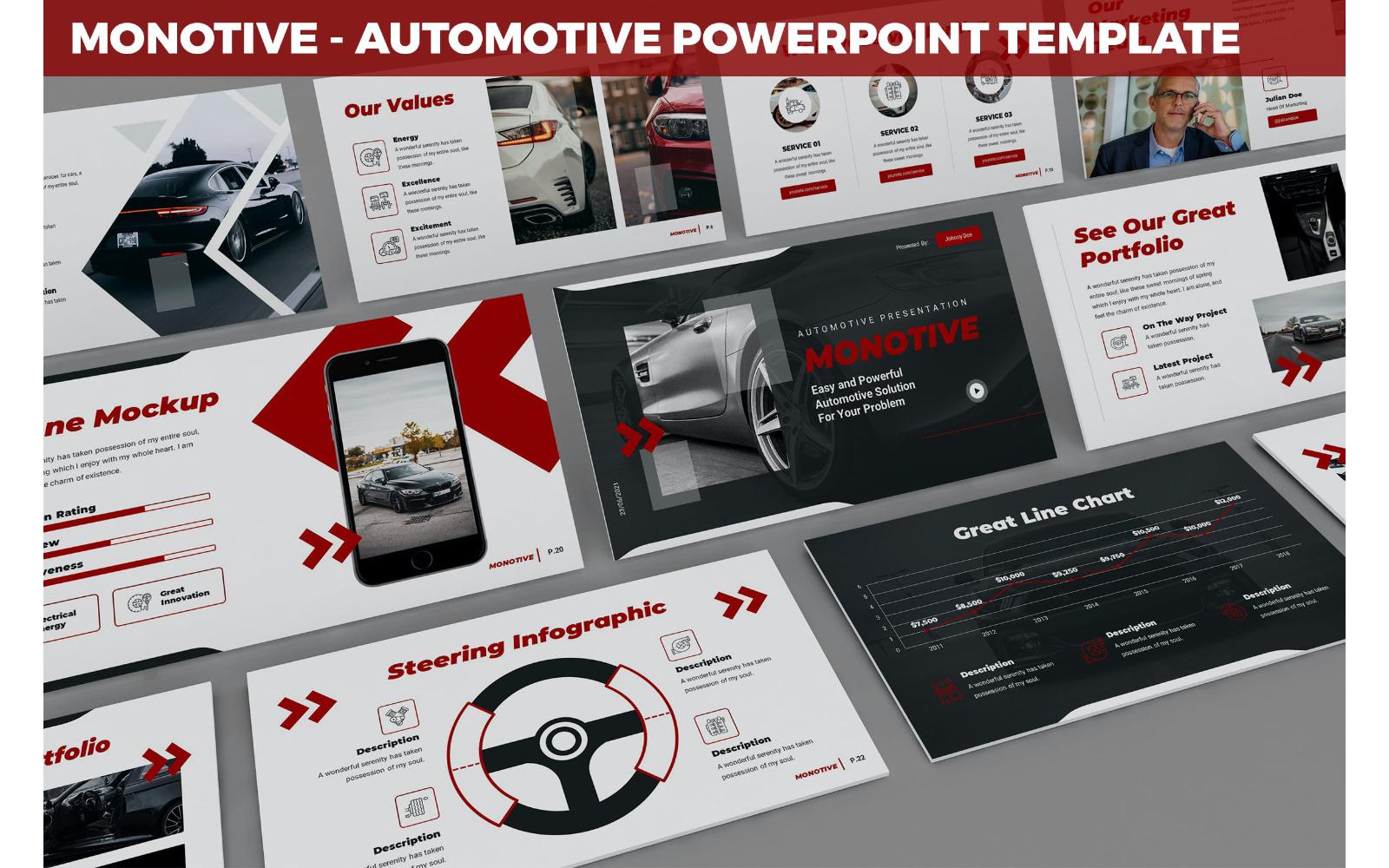 Monotive - Automotive Powerpoint Template