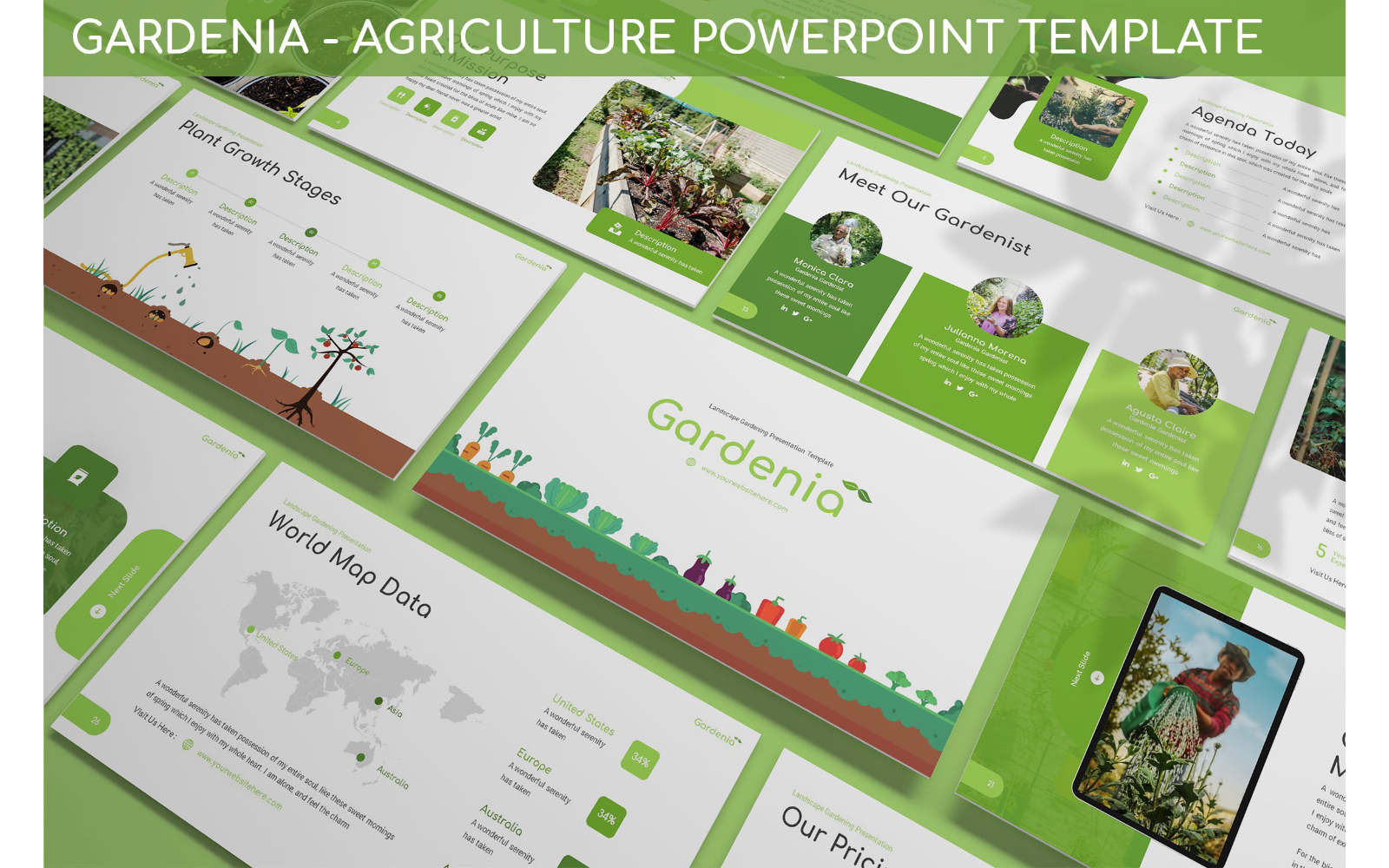 Gardenia - Agriculture Powerpoint Template