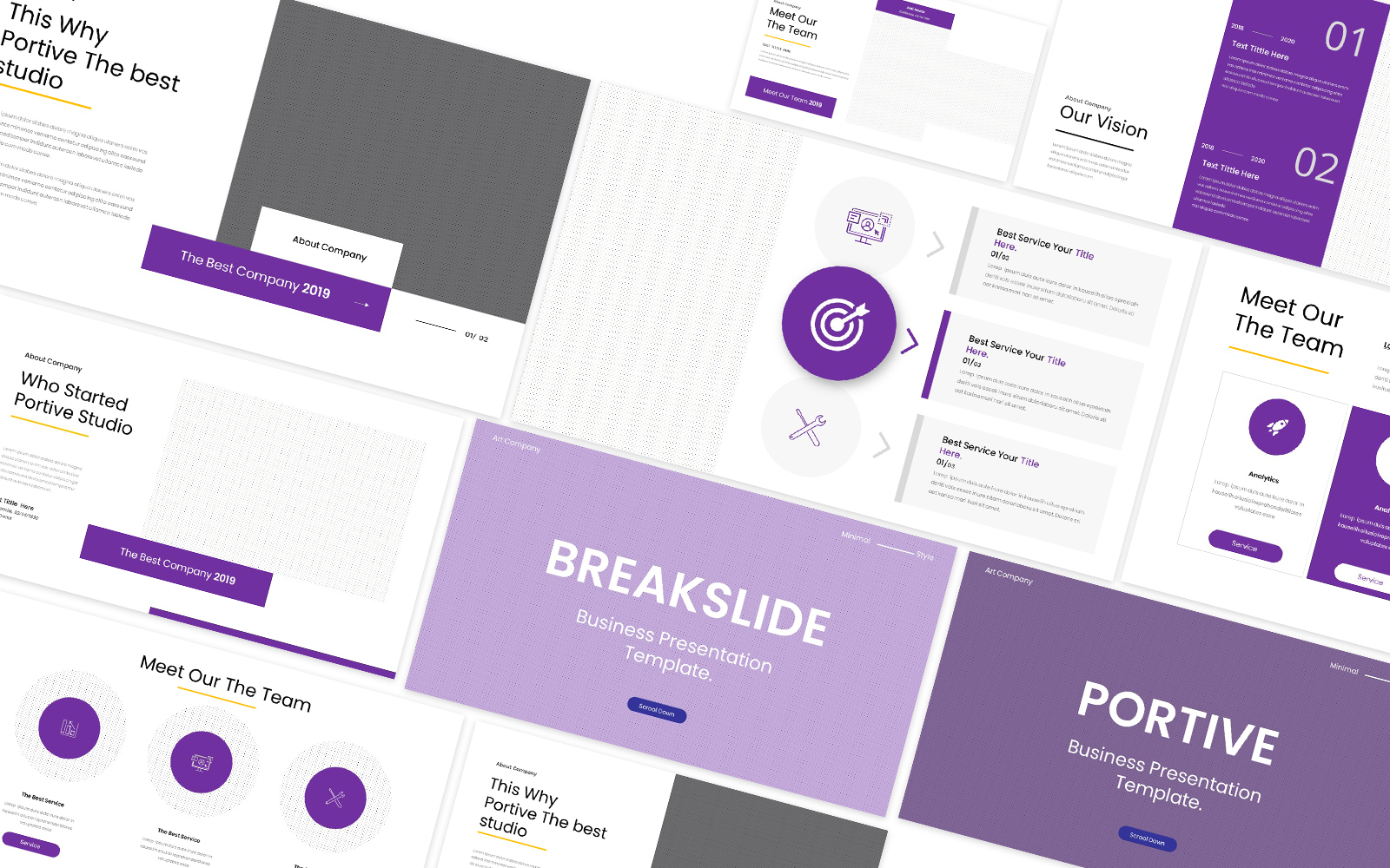 Portive Powerpoint Template