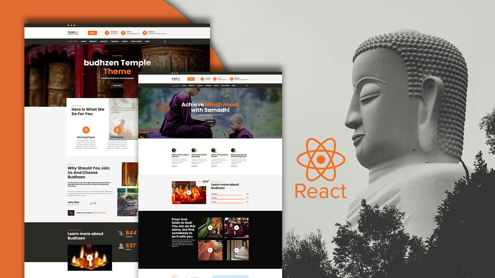 Templezen - Temple React Website template