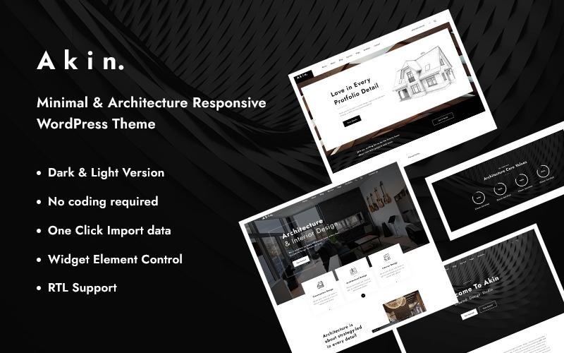 Akin - Minimal & Architecture Responsive WordPress Theme