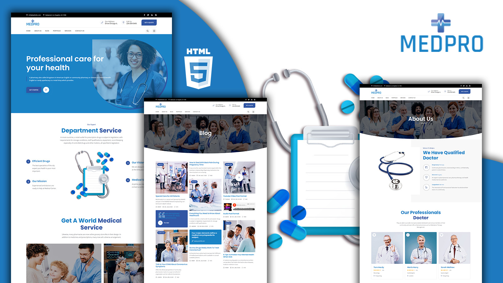 Medpro Medical Clinic HTML5 Website Template