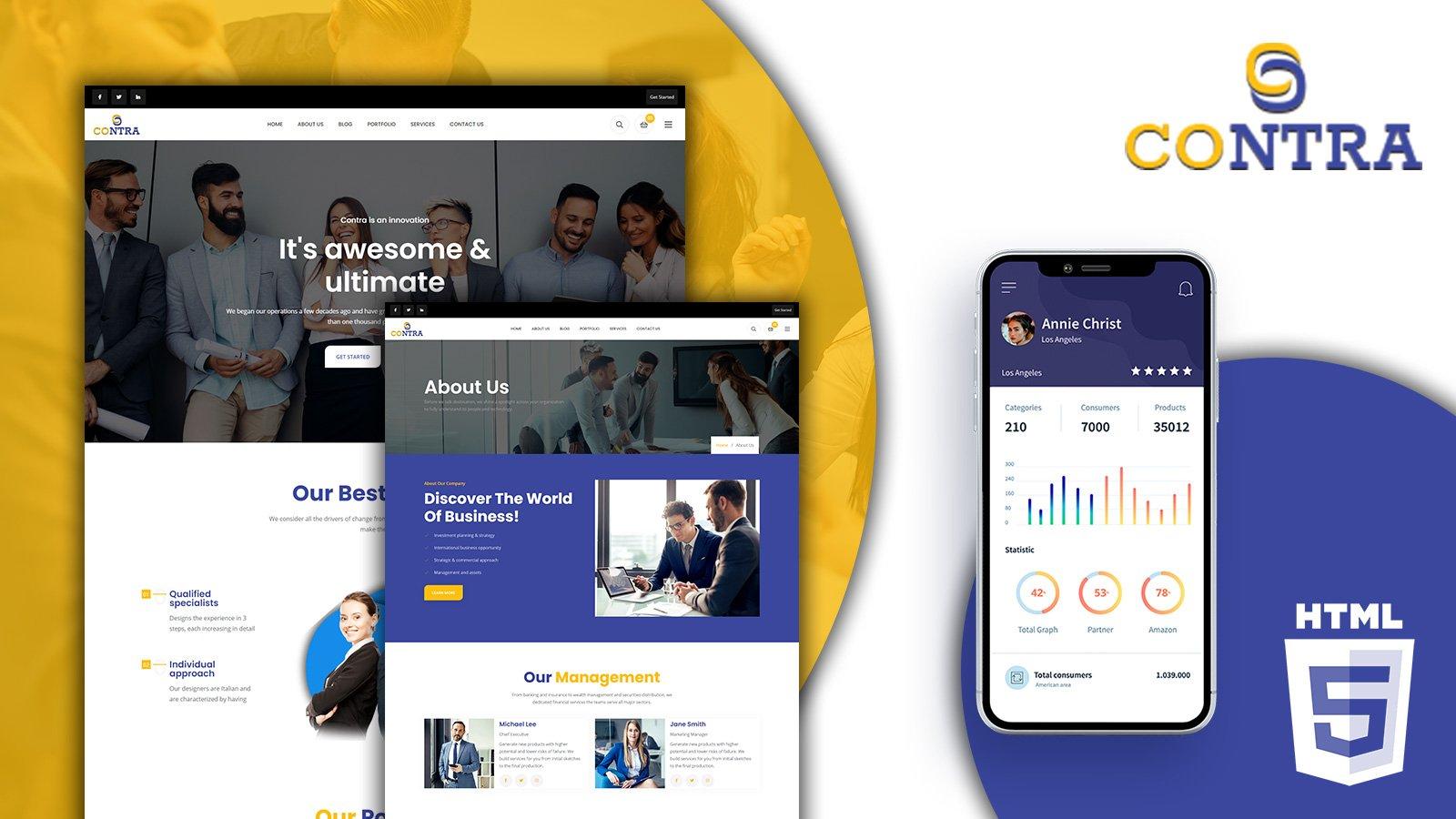Contra Corporate HTML5 Website Template