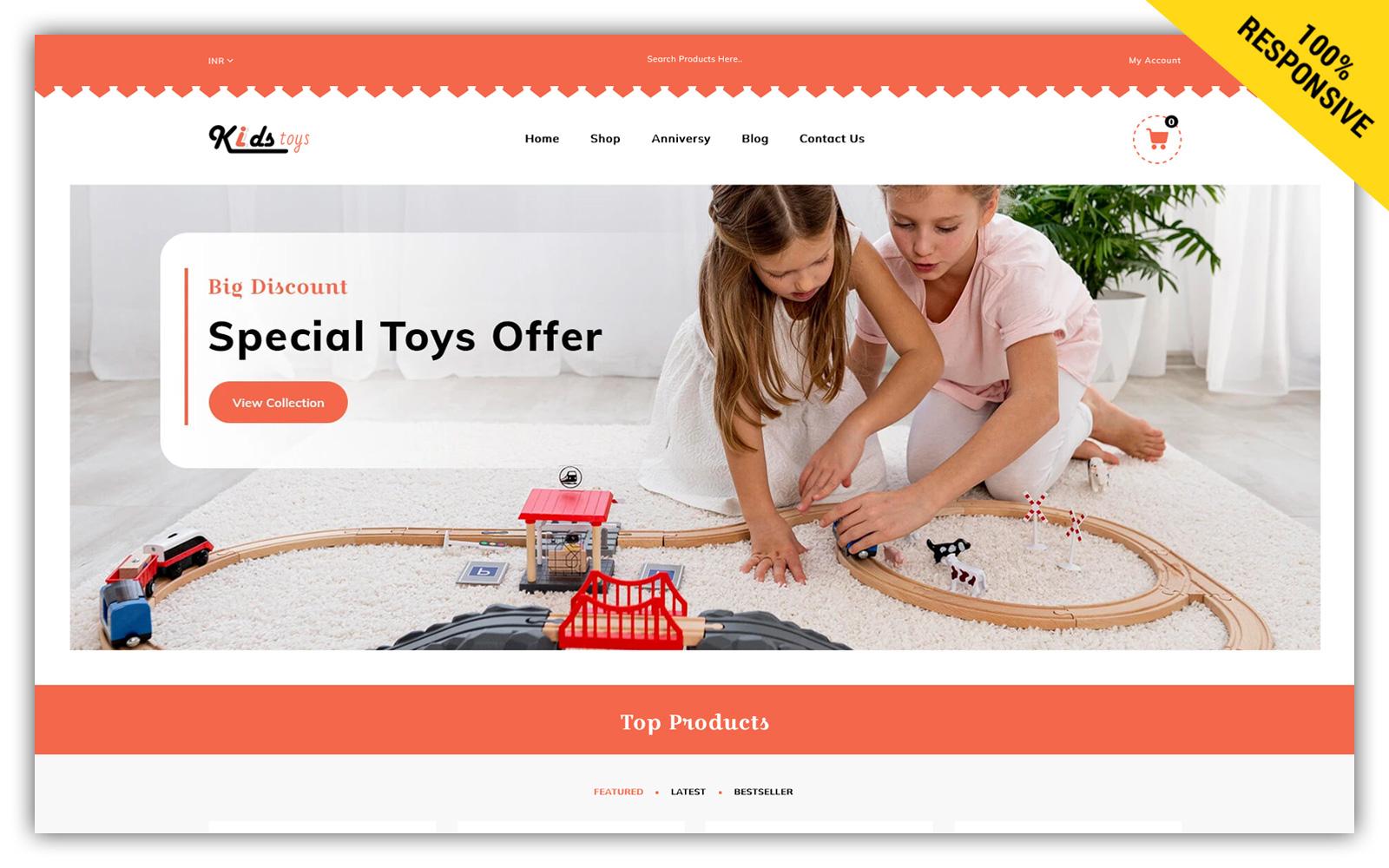 Kidstoys Store Shopify Theme