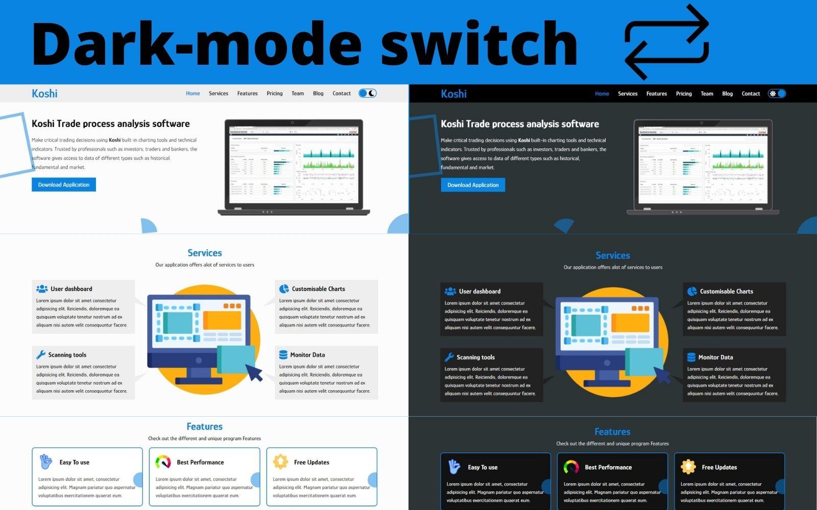 Koshi - Software Application Landing Page Template