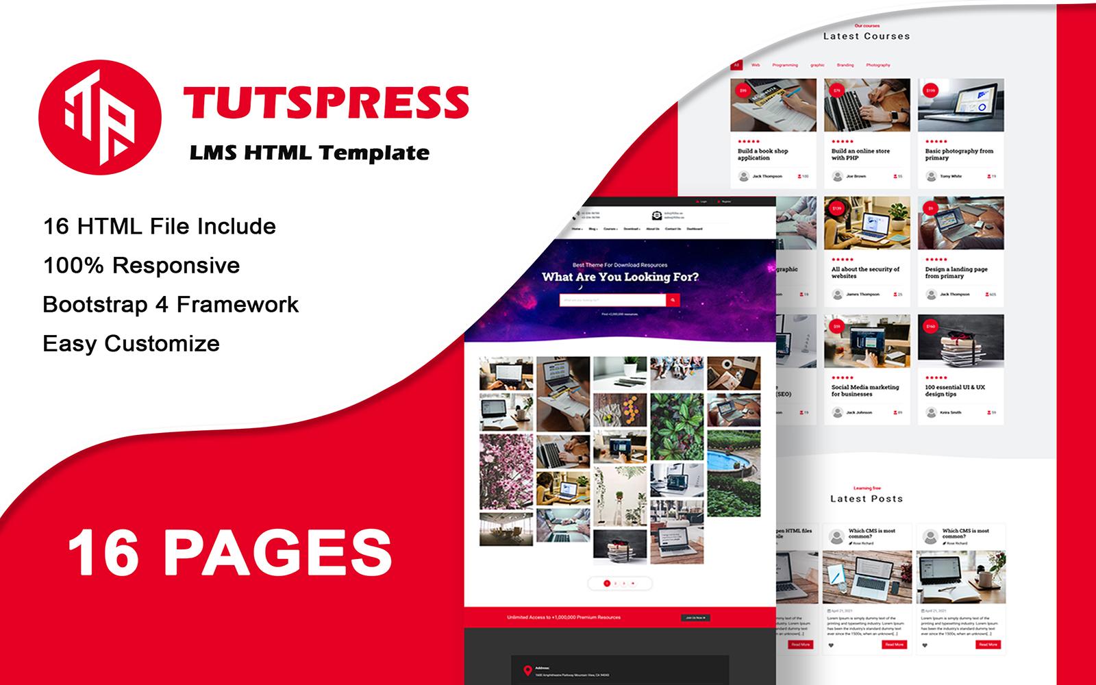 Tutspress - Multipurpose Education HTML Template