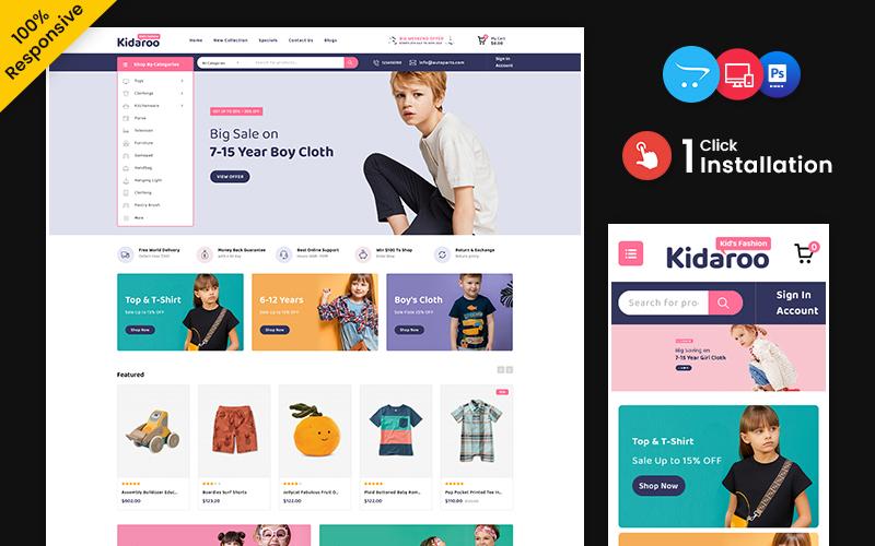 Kidaroo – Kids and toy Multipurpose Responsive OpenCart Store