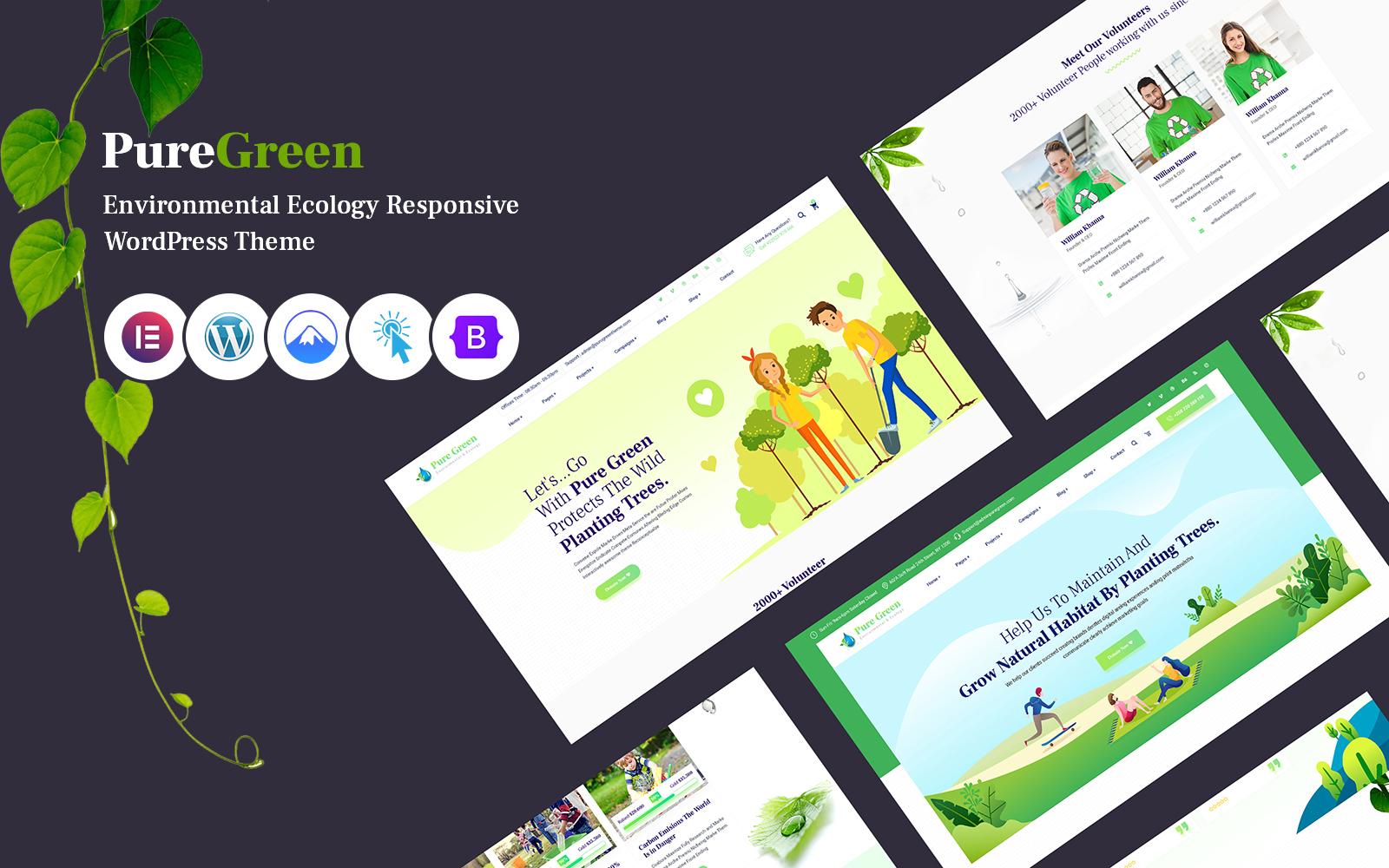 Puregreen - Environment And Ecology Responsive WordPress Theme