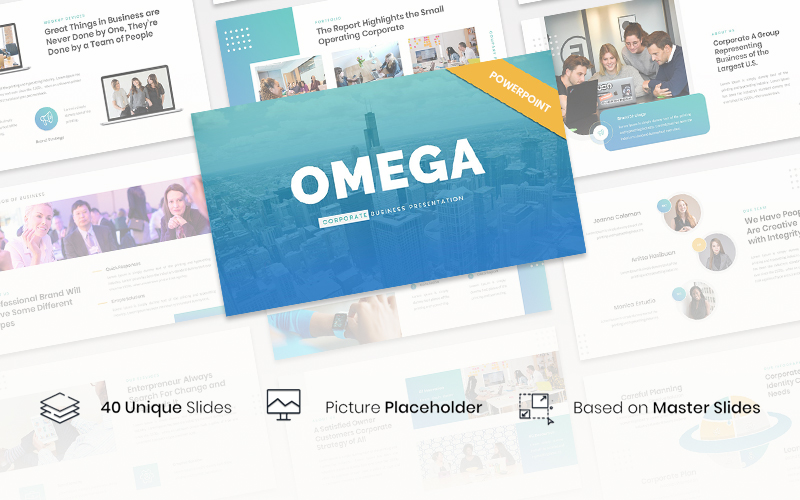 Omega - Corporate Business PowerPoint Template