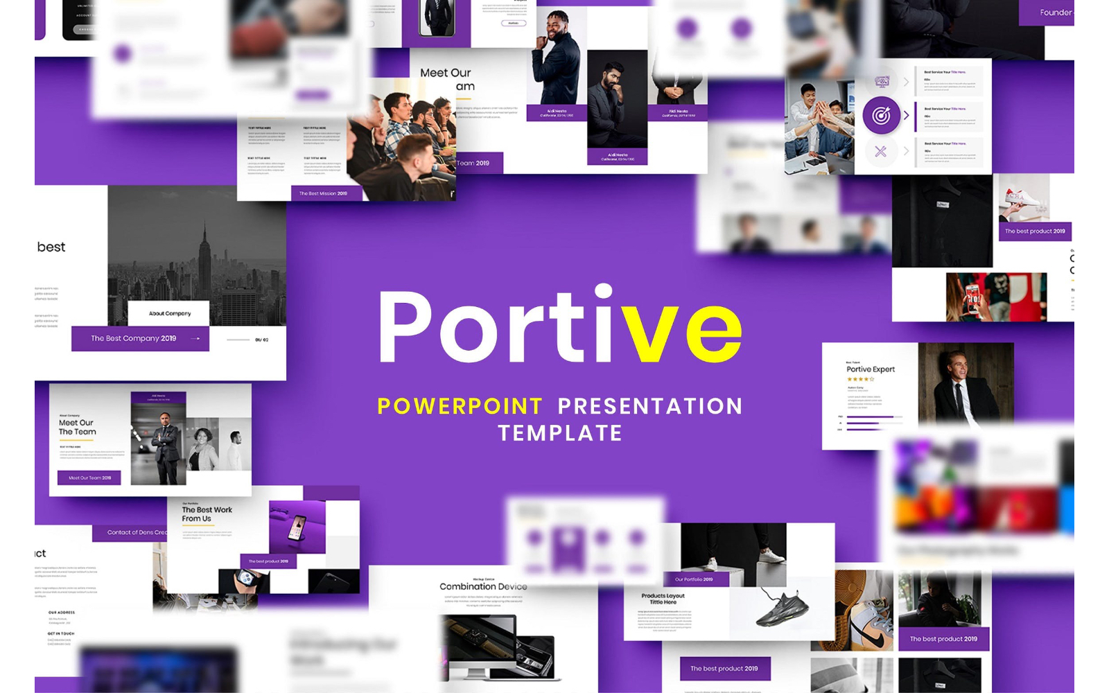 Portive – Business PowerPoint Template