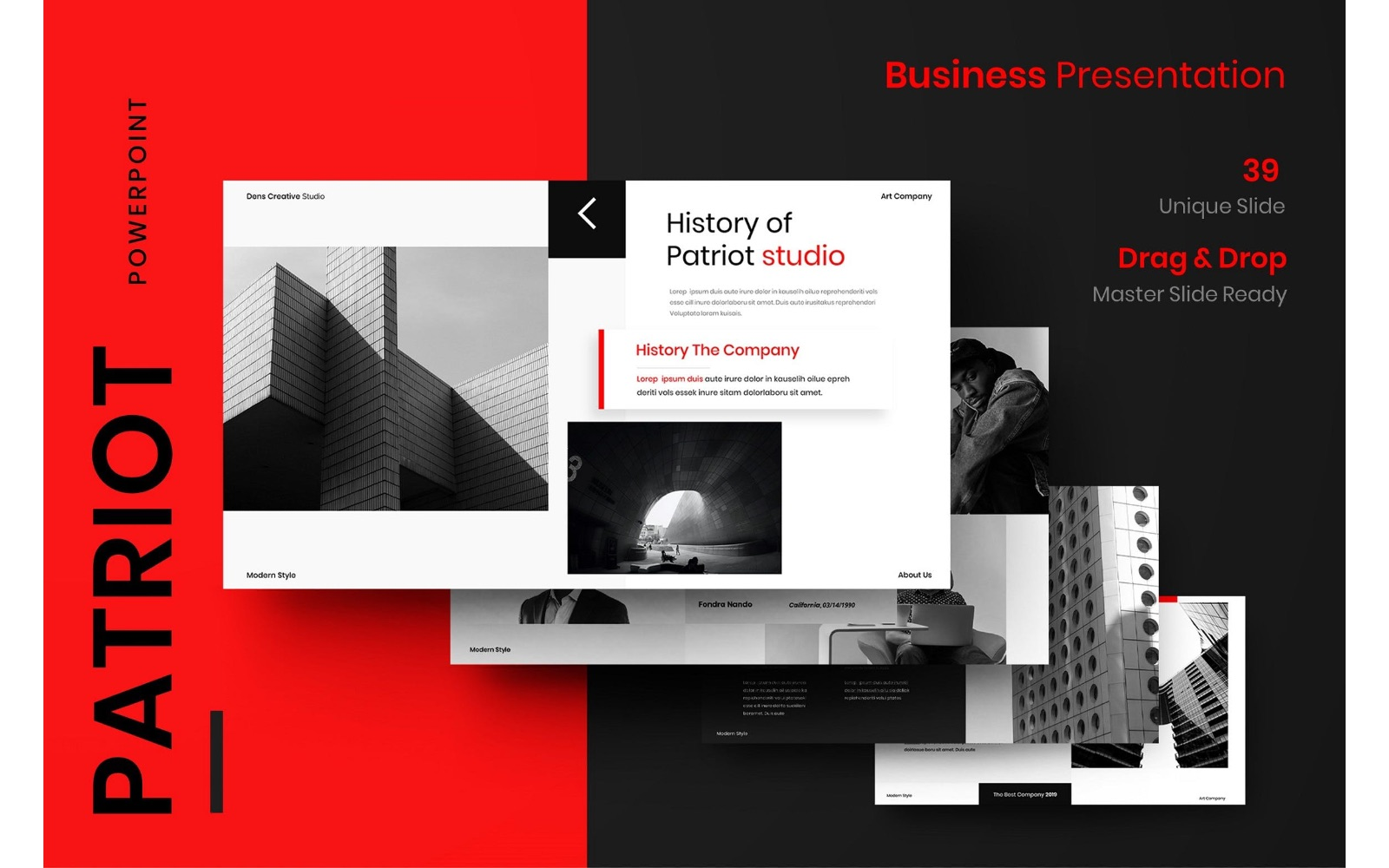 Patriot – Business PowerPoint Template