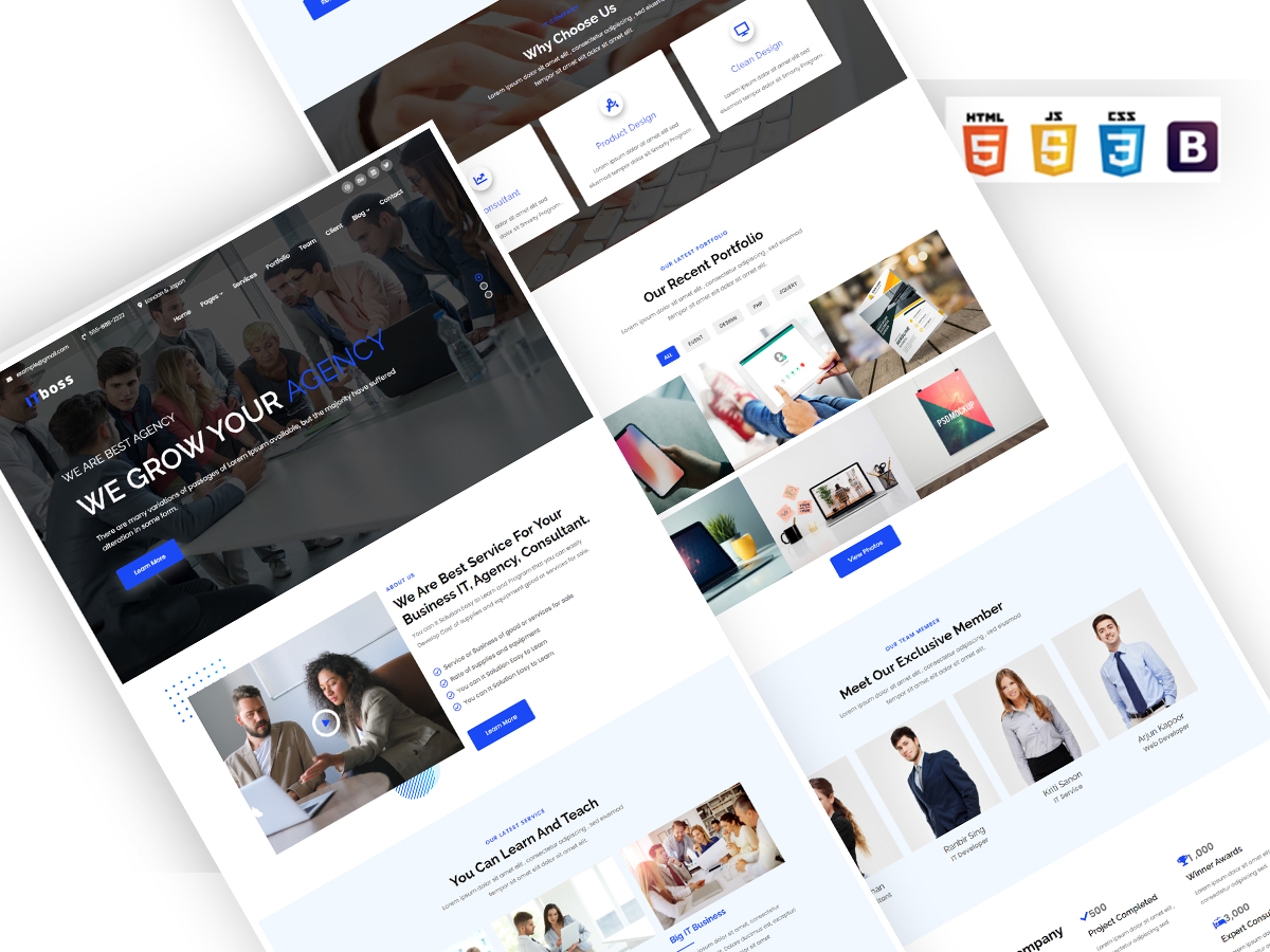 ITboss - IT and Business Consulting Modern Website Template