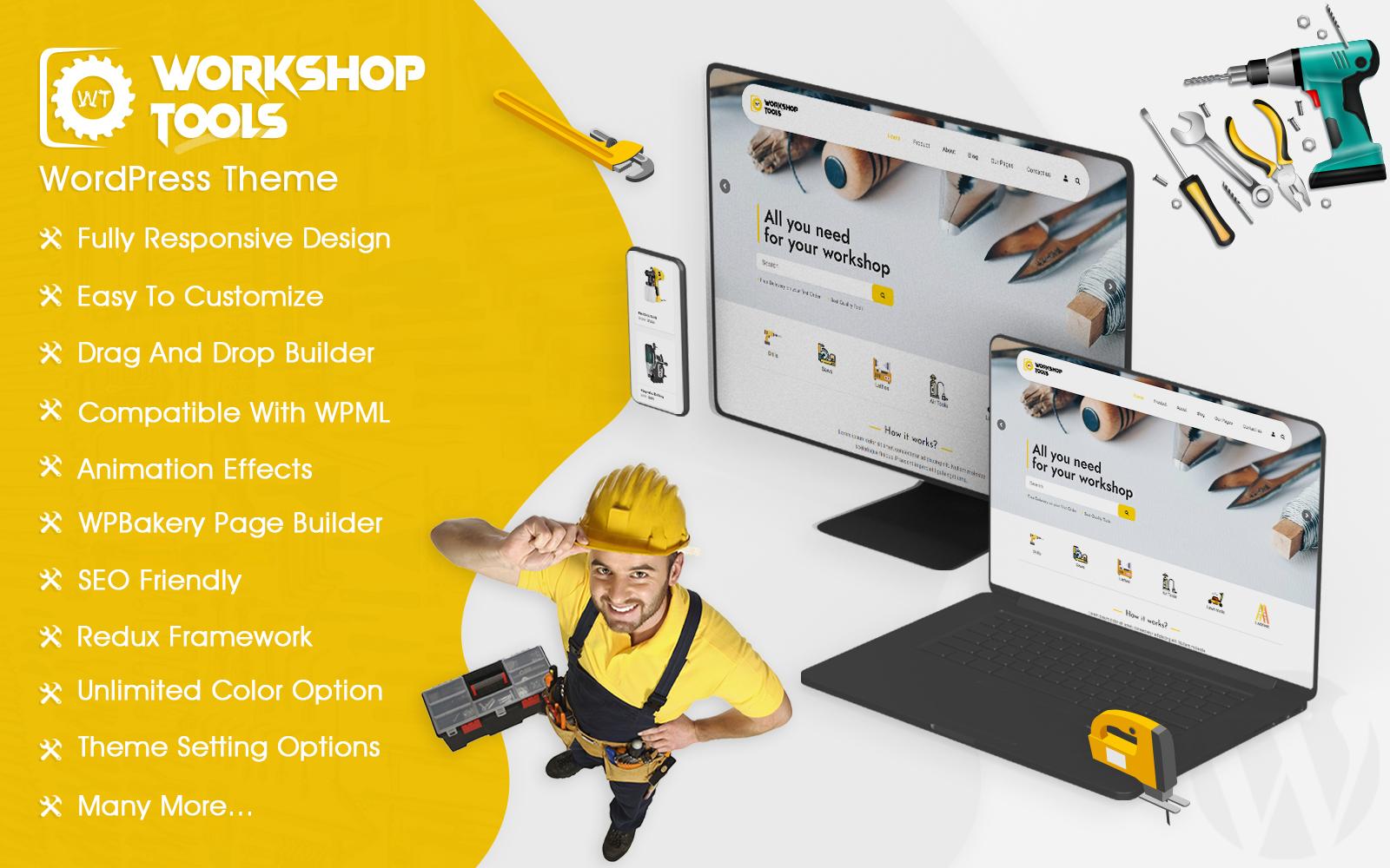 Workshop Tools Store WooCommerce Theme