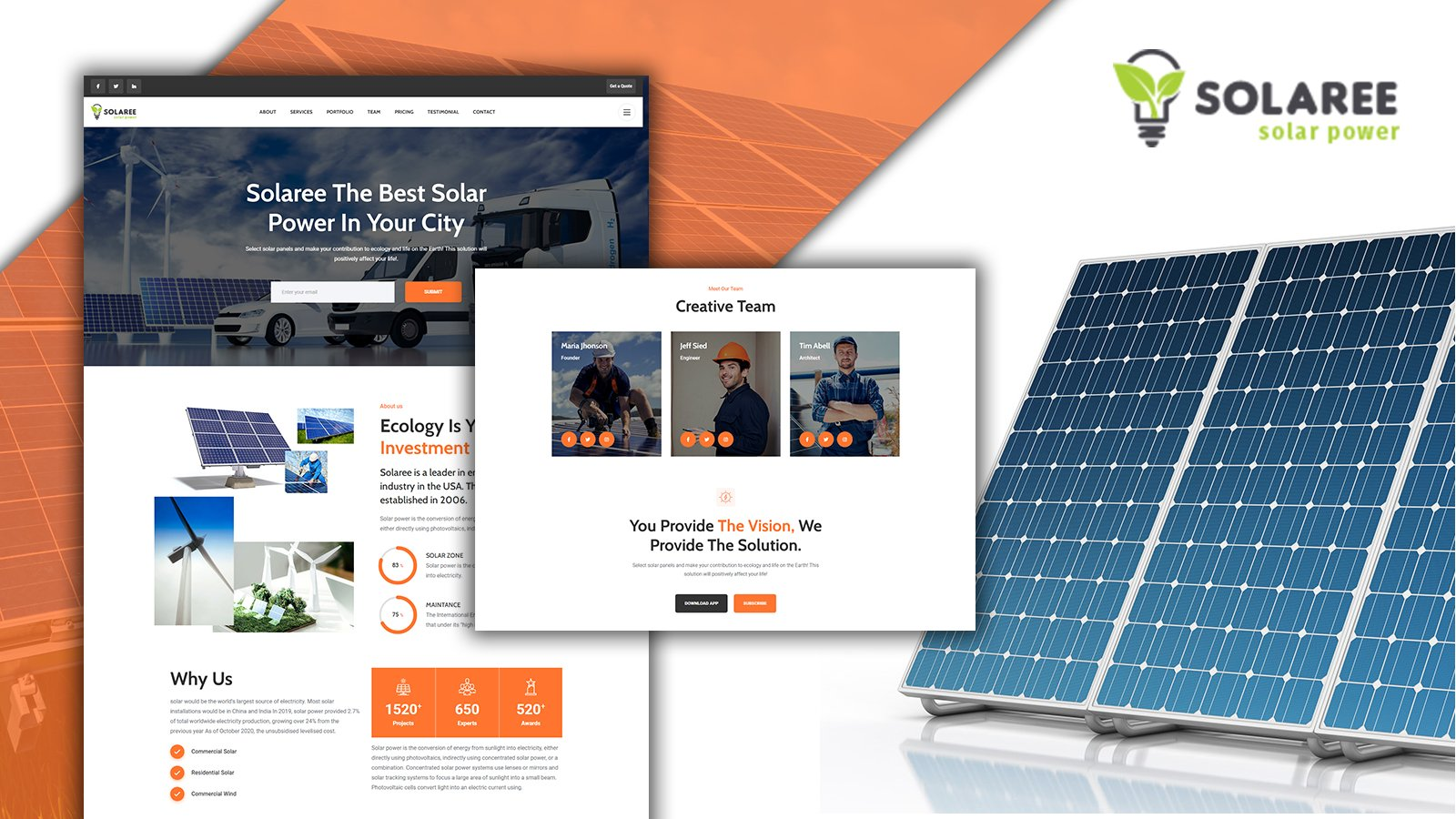 Solaree Wind & Solar Energy Landing Page HTML5 Template