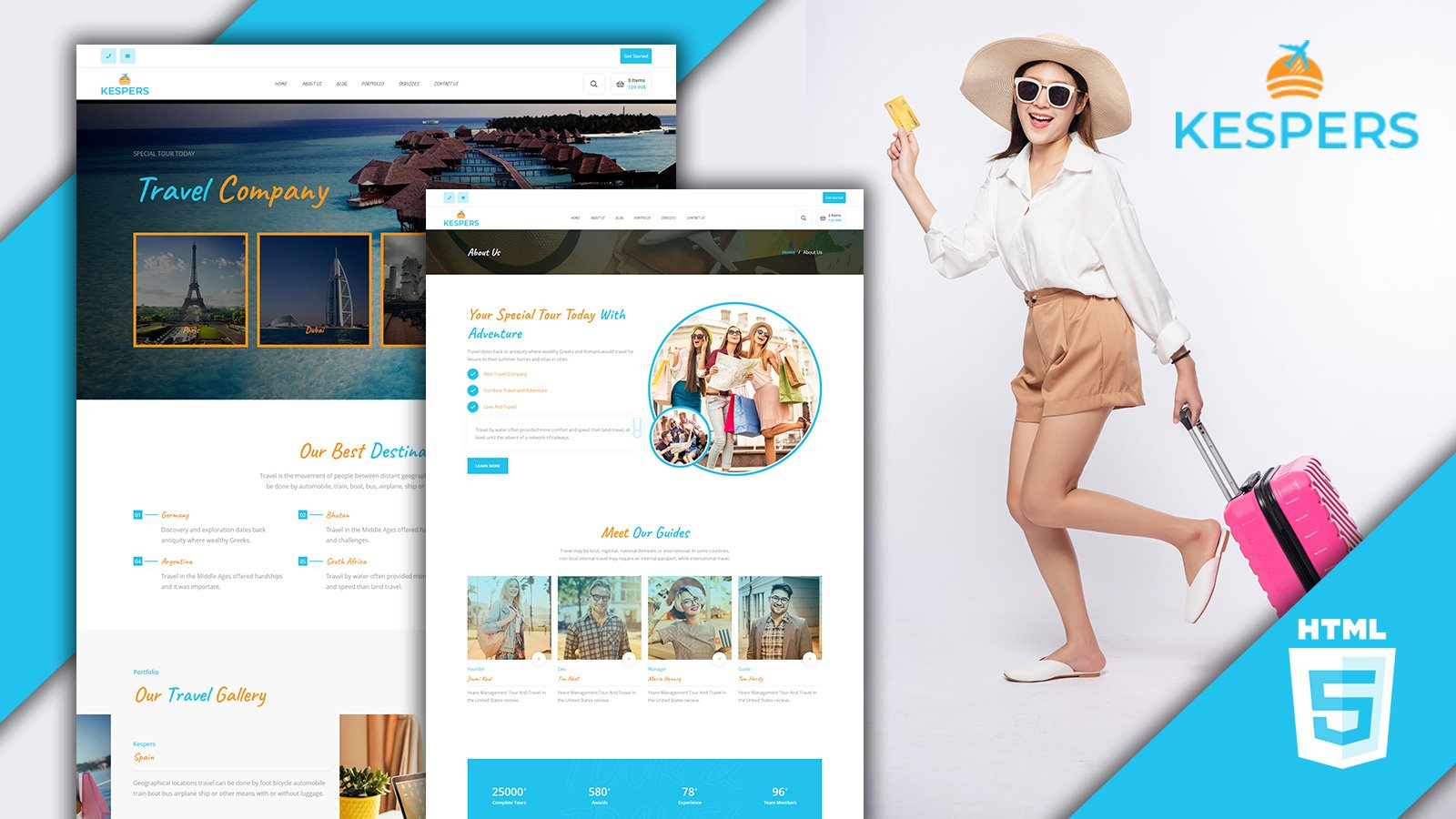 Kespers Traveling Agency HTML5 Website Template