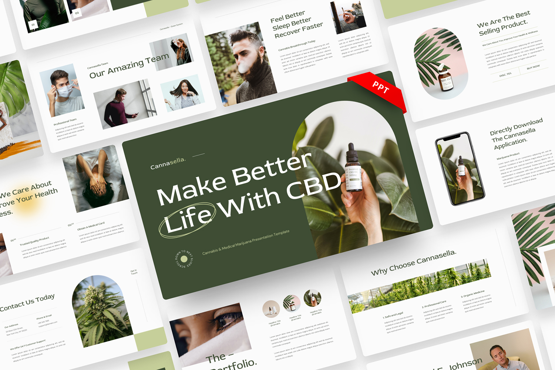 Cannasella - Cannabis and Medical Marijuana PowerPoint Template