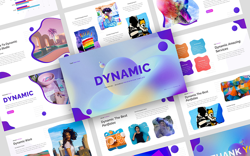 Dynamic - Creative Business Presentation PowerPoint Template