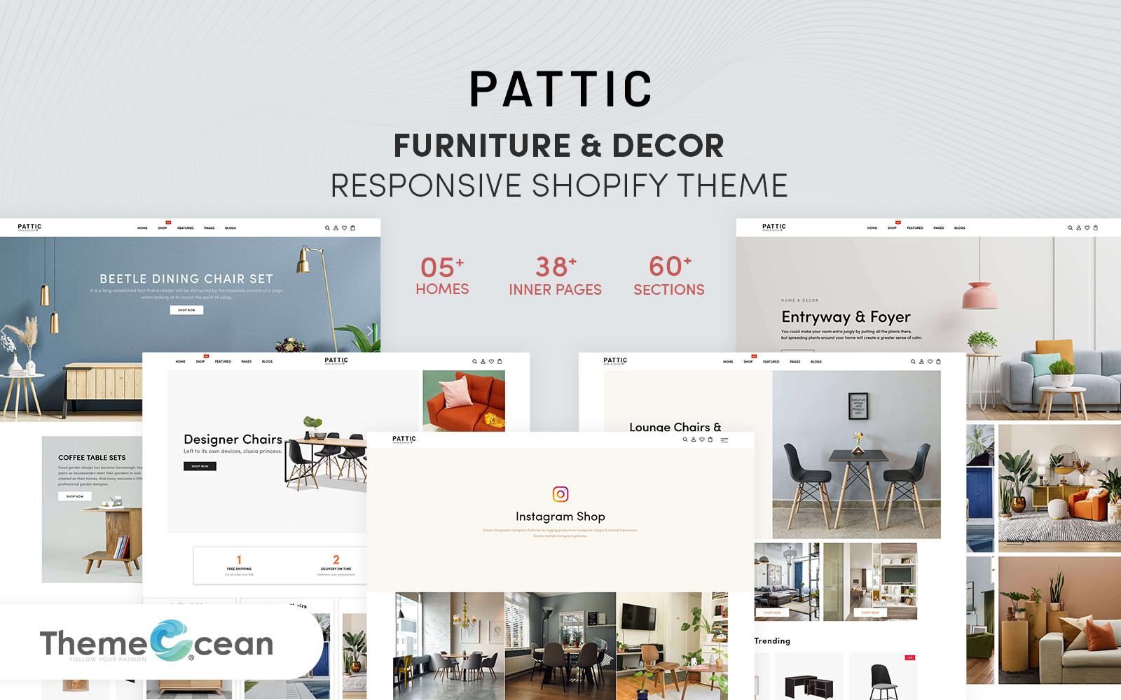 Pattic - Furniture & Decor Responsive Shopify Theme