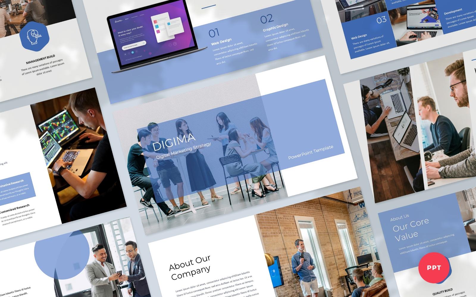 Digima - Digital Marketing PowerPoint Presentation Template