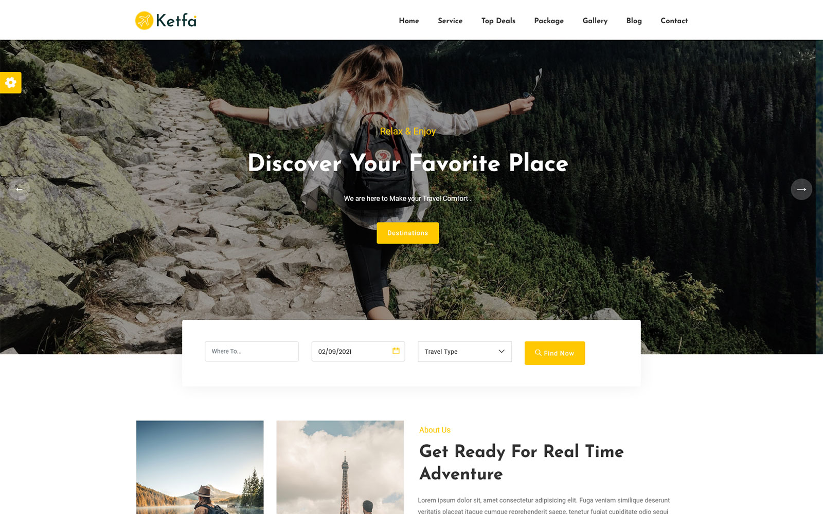 Ketfa - Tour and Travel Agency Landing Page Template