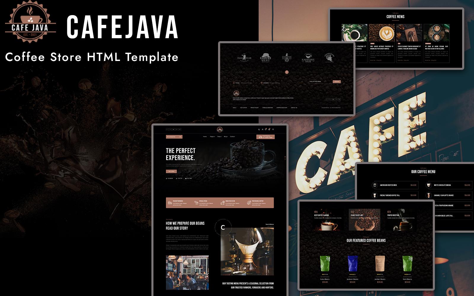 CafeJava - Coffee Store HTML Template