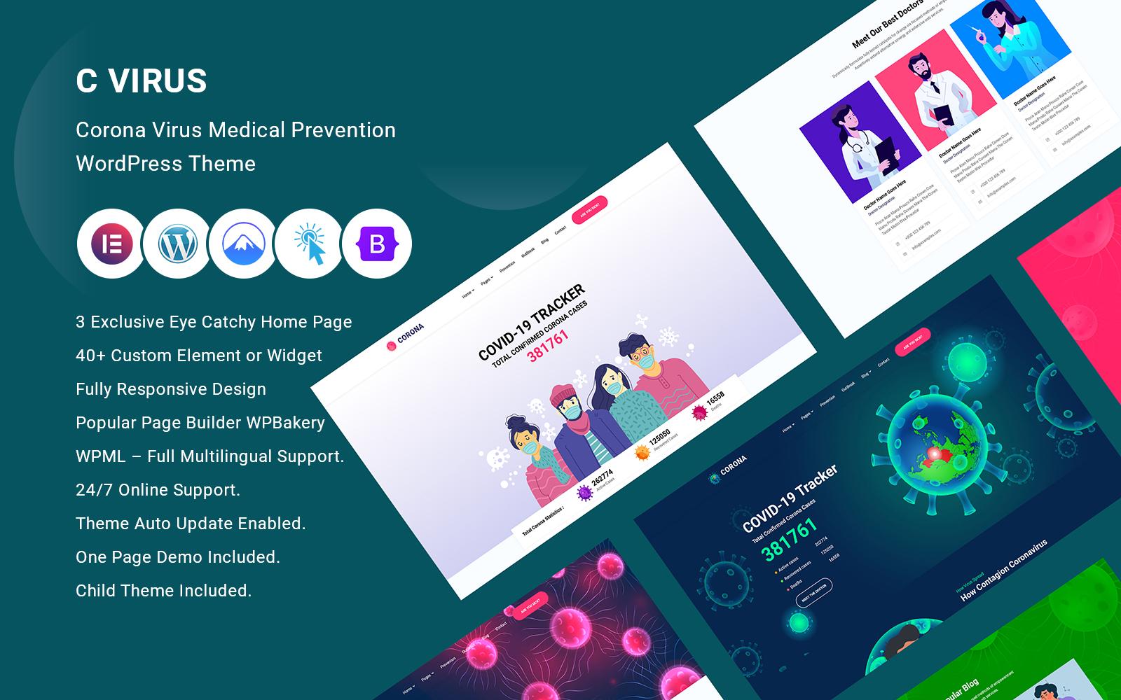Cvirus - Corona virus Medical Prevention WordPress Theme