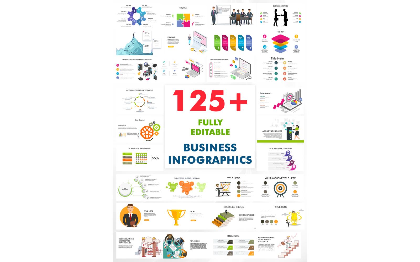 125+ Editable Business Powerpoint Presentation Templates Infographics Bundle