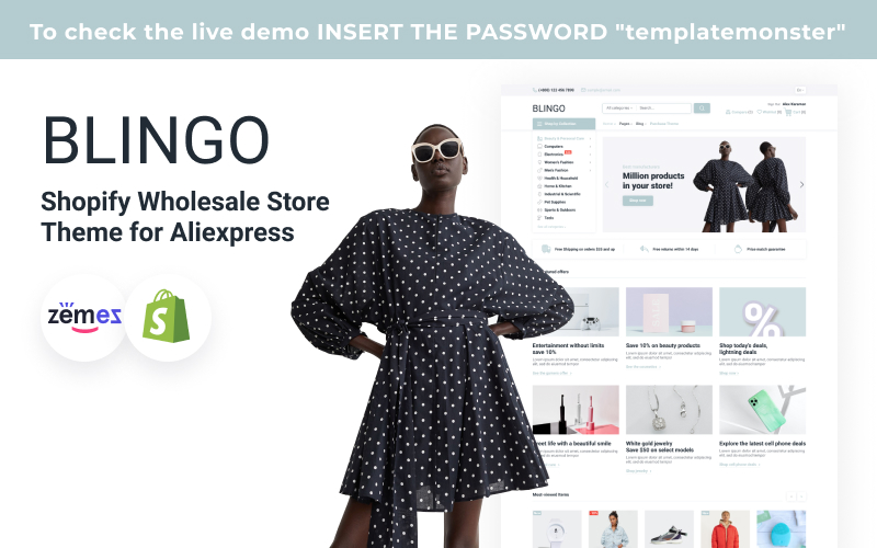 Blingo - Shopify Wholesale Store Theme for Aliexpress
