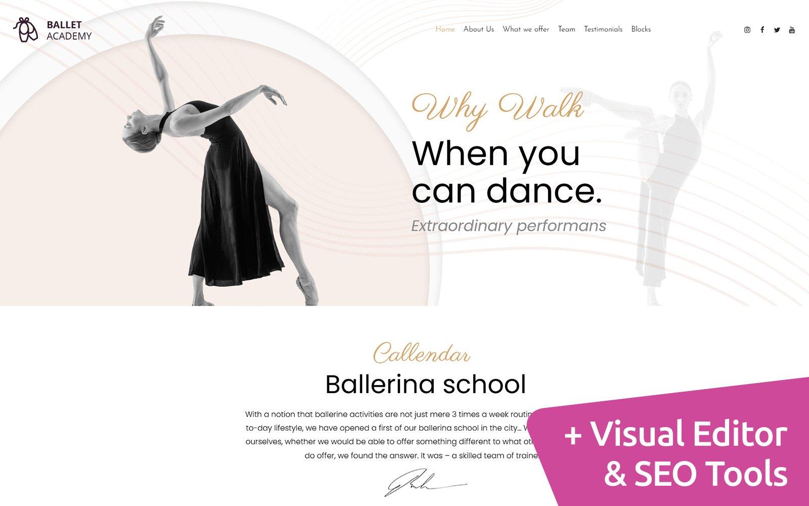Ballet Moto CMS Website Template