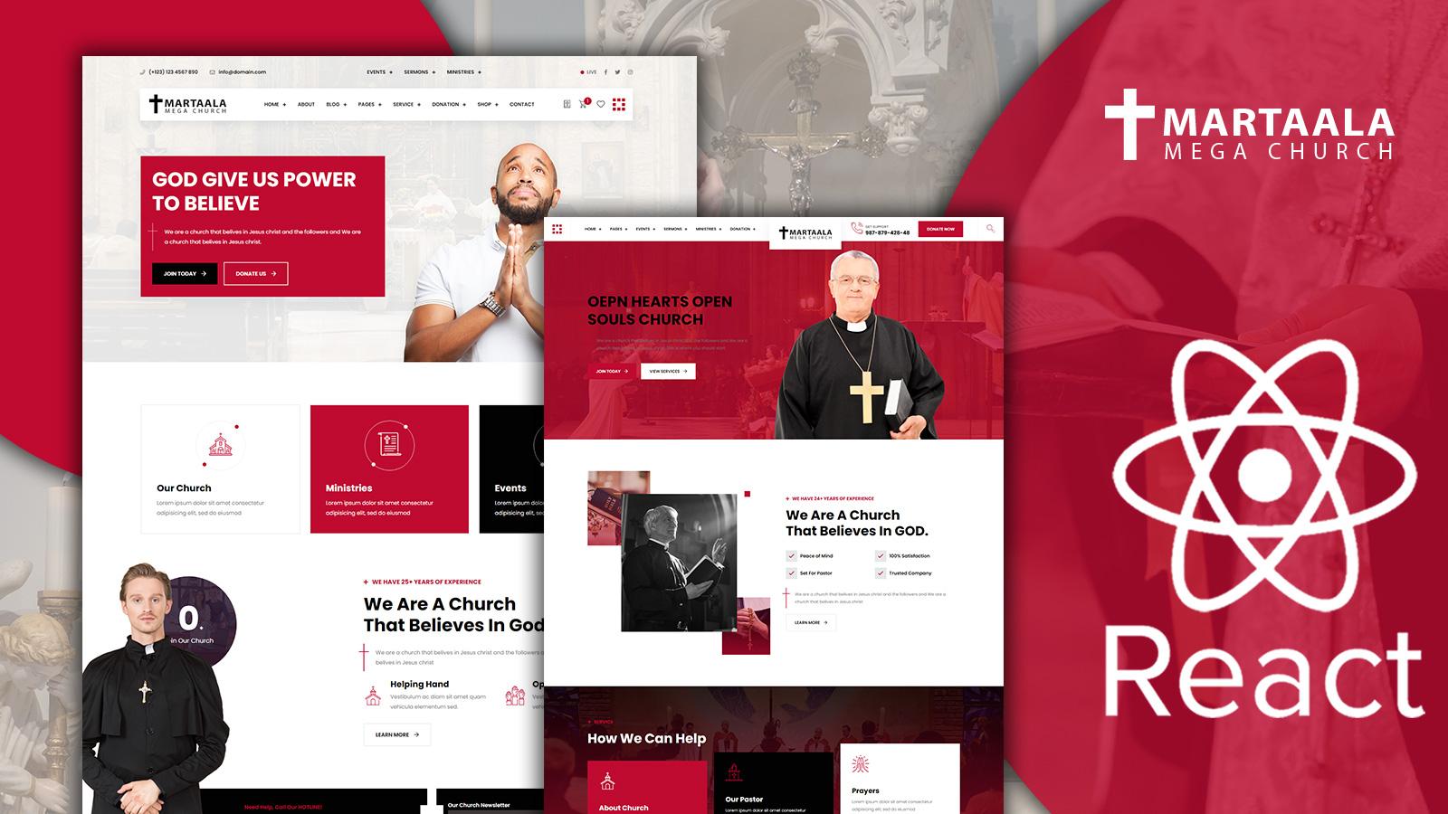 Martalaa Church and Multi Purpose React JS Website Template