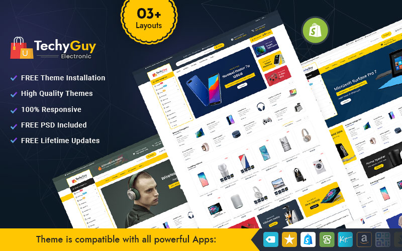 TechyGuy - Electronics and Computers Multipurpose Shopify Responsive Theme