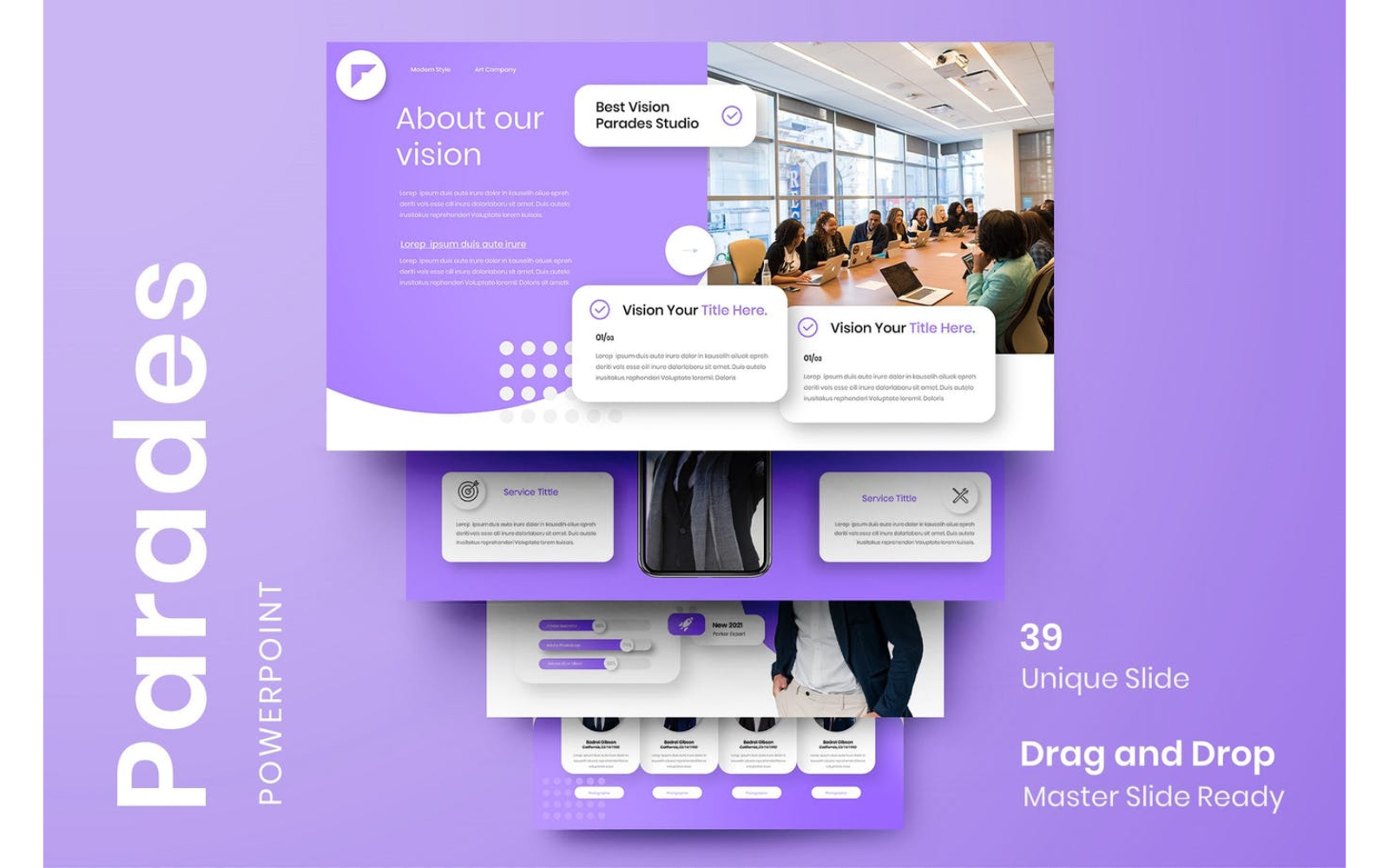Parades – Business PowerPoint Template